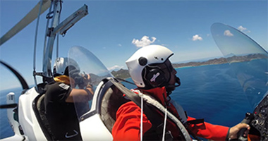 Flight above St Barth island with a gyrocopter