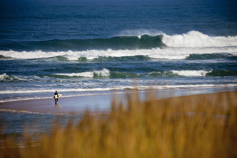 surfeur dans les Landes